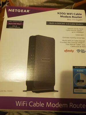 Netgear N300 Wifi Cable Model Router for Sale in Philadelphia, PA