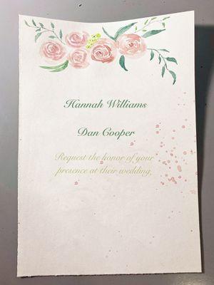 Hand-drawn Wedding/event invitations for Sale in Boston, MA