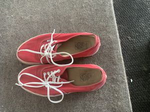 Red vans woman's size 11 for Sale in Des Moines, IA