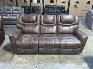 Brand New! Glazed Microfiber Tan Sofa for Sale in La Vergne, TN