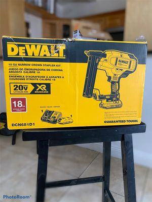18ga Dewalt Narrow Crown Stapler Kit 🚨Model DCN681D1 for Sale in Azusa, CA