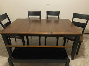 Blake Six Person Table and matching Cabinet Set for Sale in Joliet, IL