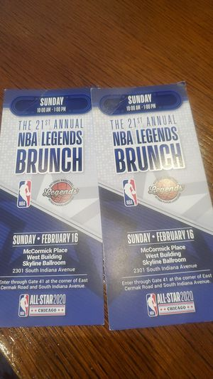 ALL STAR NBA LEGENDS BRUNCH for Sale in Chicago, IL
