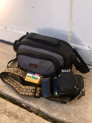 nikon N6006 film camera (incl. lens, strap, bag, etc.) for Sale in Herndon, VA
