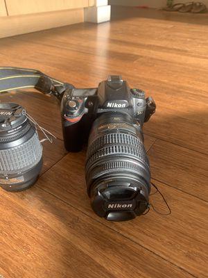 Nikon D80 Digital Single Lens + 2 Nikon AF-S DX lenses (18-55mm f/3.6-5.6)(55-300mm f/ 4.5-5.6) for Sale in Seattle, WA