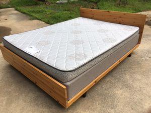 Queen bed frame, box, and mattress for Sale in Tucker, GA