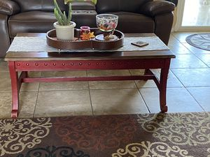 Shabby chic/distressed Red table set for Sale in Bakersfield, CA