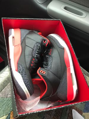 Jordan 3 crimson size 9 with box and extra shoelaces for Sale in Denver, CO