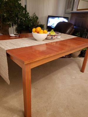 Real wood. Super solid dining table and chairs. As a set or separate for Sale in Renton, WA