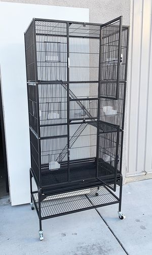 "New $110 Large 69"" Tall Bird Parrot Cage Storey Ladder Aviary Flight w/ Wheels for Sale in South El Monte, CA"