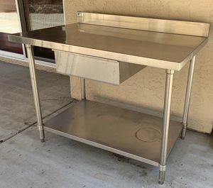 Stainless Steel Commercial Work Table with Undershelve and Drawer for Sale in San Diego, CA