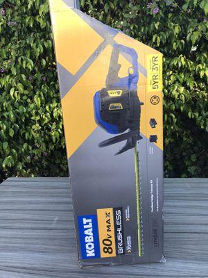 Kobalt 80V max hedge trimmer kit new $145 nueba batería y cargador for Sale in Los Angeles, CA