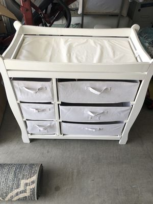 Baby changing table with storage for Sale in Henderson, NV