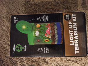 Light-up Terrarium Kit for Kids LED Light on Lid - Science Kit for Kids - Crafts & Arts Create Customized Mini Garden for Children for Sale in North Miami Beach, FL