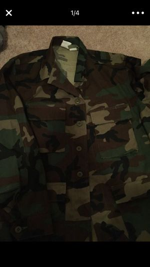 Camouflage hunting fishing hiking jacket for Sale in Portland, OR