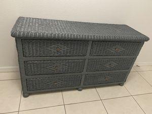 Wicker dresser for Sale in Haines City, FL