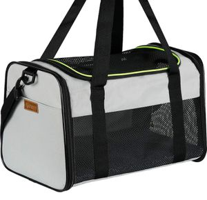 Akinerri - pet carrier, soft-sided folding travel carrier for medium-sized puppies and cats for Sale in Ontario, CA