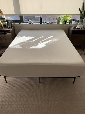 """12"""" Queen Mattress with Bed Frame for Sale in Denver, CO"""