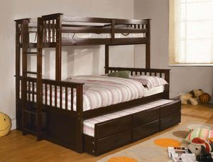 Twin over full bunk bed with futon and 3 drawers!! for Sale in Sparks, NV