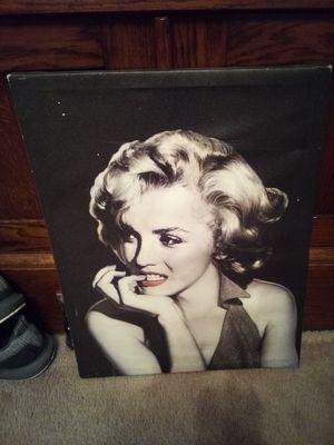Canvas photo of Marylin Monroe for Sale in Kalamazoo, MI