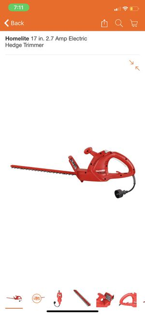 HOMELITE HEDGE TRIMMER for Sale in San Dimas, CA