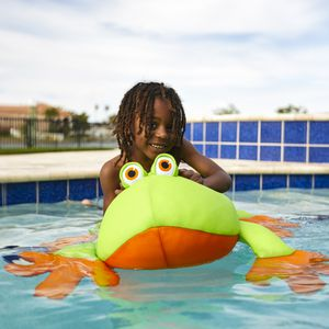 Big Joe Pool Petz Floating Floaty Frog Outdoor Kids Large Lounger Rare Style for Sale in Takoma Park, MD