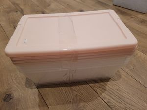 Set of 4 pink and clear small storage containers for Sale in San Diego, CA