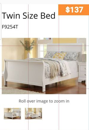 BRAND NEW TWIN BED AVAILABLE IN FULL ADD CHEST NIGHTSTAND AND ADD MATTRESS AVAILABLE ALL NEW BY USA MEXICO FURNITURE for Sale in Pomona, CA