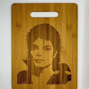 Michael Jackson laser engraved cuttingboard Christmas gift kitchen pop for Sale in Los Angeles, CA