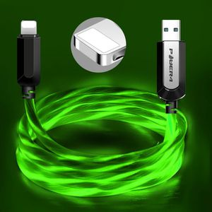 Premium quality power 4 green color led fast charging cable for Samsung type c or iphone ios. for Sale in Los Angeles, CA
