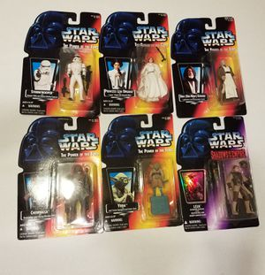 Star Wars the powers of the force Shadows of the Empire Stormtrooper Princess Leia Obi-Wan Kenobi Chewbacca Yoda for Sale in Kissimmee, FL