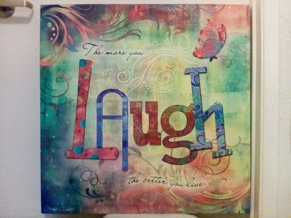 Connie Haley 'Laugh' Canvas Giclee Art for Sale