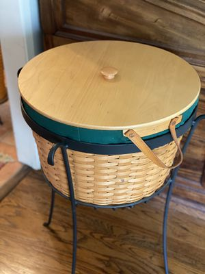 Longaberger huge basket with stand for Sale in San Jose, CA
