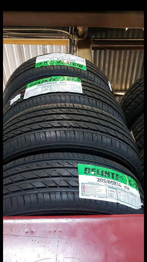 Brand New set of delinte tires 205 60 16