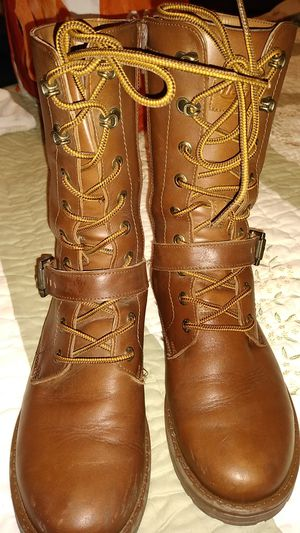 Brown boots real leather for Sale in Compton, CA