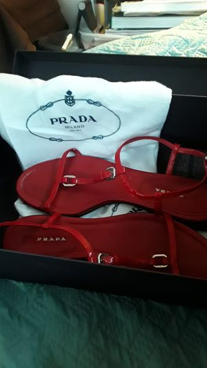 Authentic Prada flat sandals size 8 1/2 for Sale in Haines City, FL