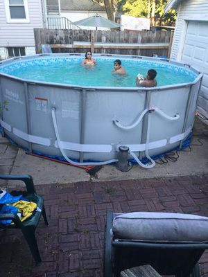 Bestway Power Steel 16x48 Above Ground Pool Includes Filter for Sale in Belle Isle, FL