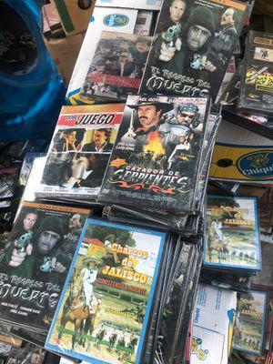 DVD DE JARIPEROS GALLOS PELICULAS CAJA $10 for Sale in San Bernardino, CA