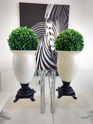"""Two 15""""vases 21""""with topiary for Sale in West Palm Beach, FL"""