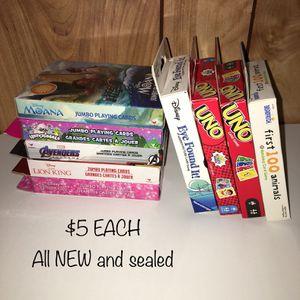 Kids Card Game bundle — $5 each for Sale in Lakewood, CA