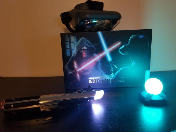 Virtual star wars light saber game