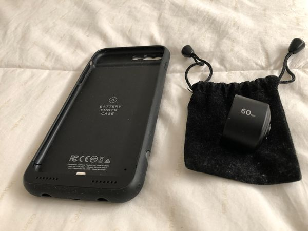 Momen Charging Case+60mm Lens for iPhone 7+ and 8+
