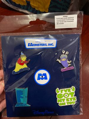 Monsters Inc Pin Set for Sale in Garden Grove, CA