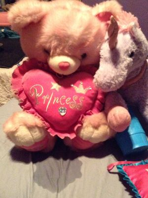 Princess bear stuffed animal for Sale in Peoria, AZ