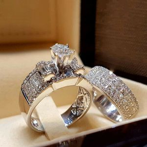 NEW STILL IN BOX 2pcs/set WhiteSapphire (Sizes 5-11) Perfect as Anniversary, Wedding, Promise Ring for Sale in Las Vegas, NV