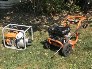 "2400 psi Powermate Gas Pressure Washer/ 3"" Water Pump/Trash Pump for Sale in Vancouver, WA"