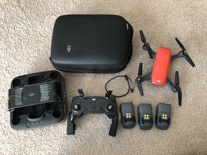 DJI Spark with case, power bank and 3 batteries for Sale in Woburn, MA