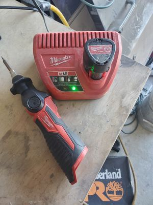 Milwaukee cordless soldering iron for Sale in San Antonio, TX