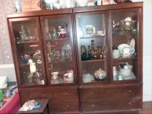 Antique Twin China Cabinets very good condition for Sale in Fairfax, VA