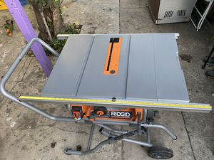 RIDGID 10 in. Pro Jobsite Table Saw with Stand for Sale in Los Angeles, CA